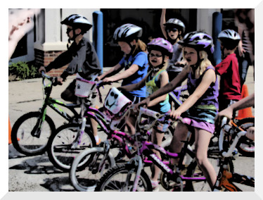 bike safety course and bike rodeo at the Carnival