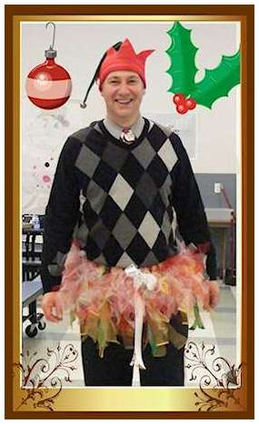 Holiday Elf Campus Community Principal Leroy Travers