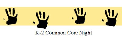 K-2 Common Core Night